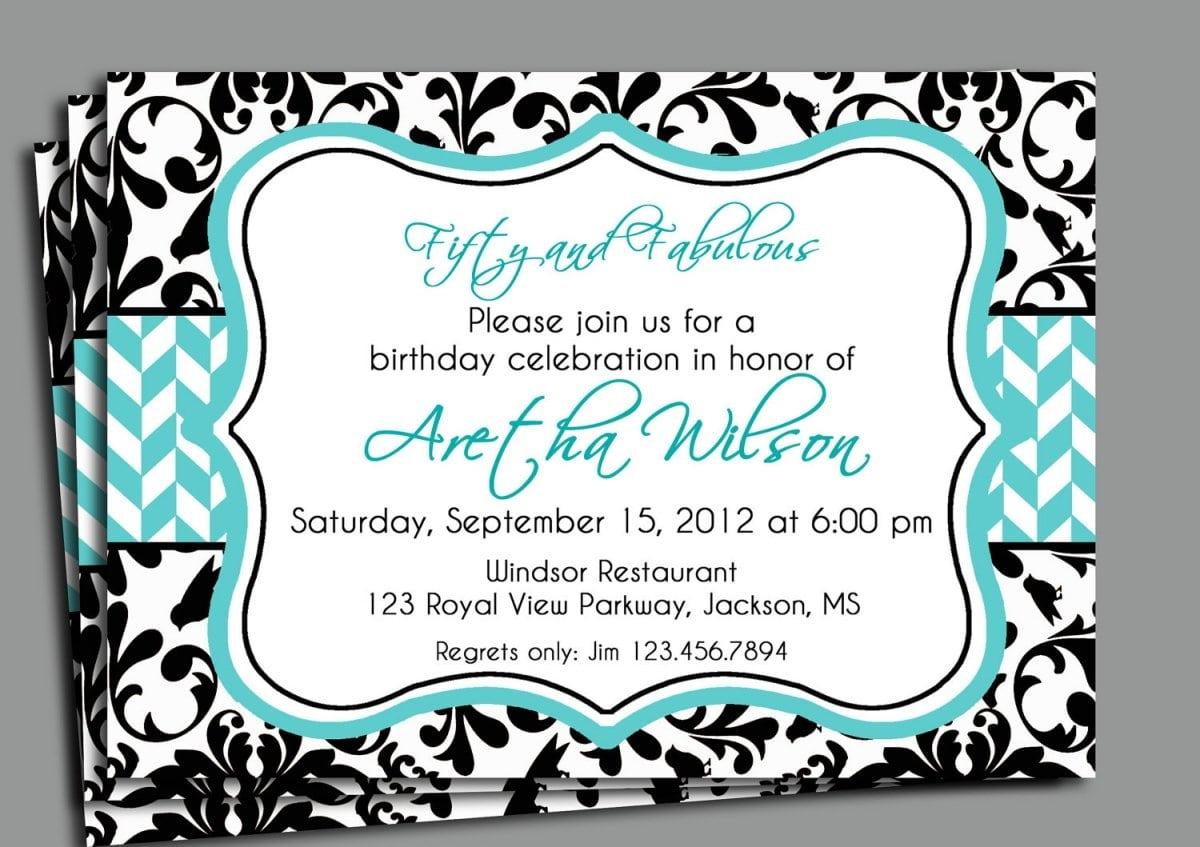 Sample Birthday Invitation Wording For Adults