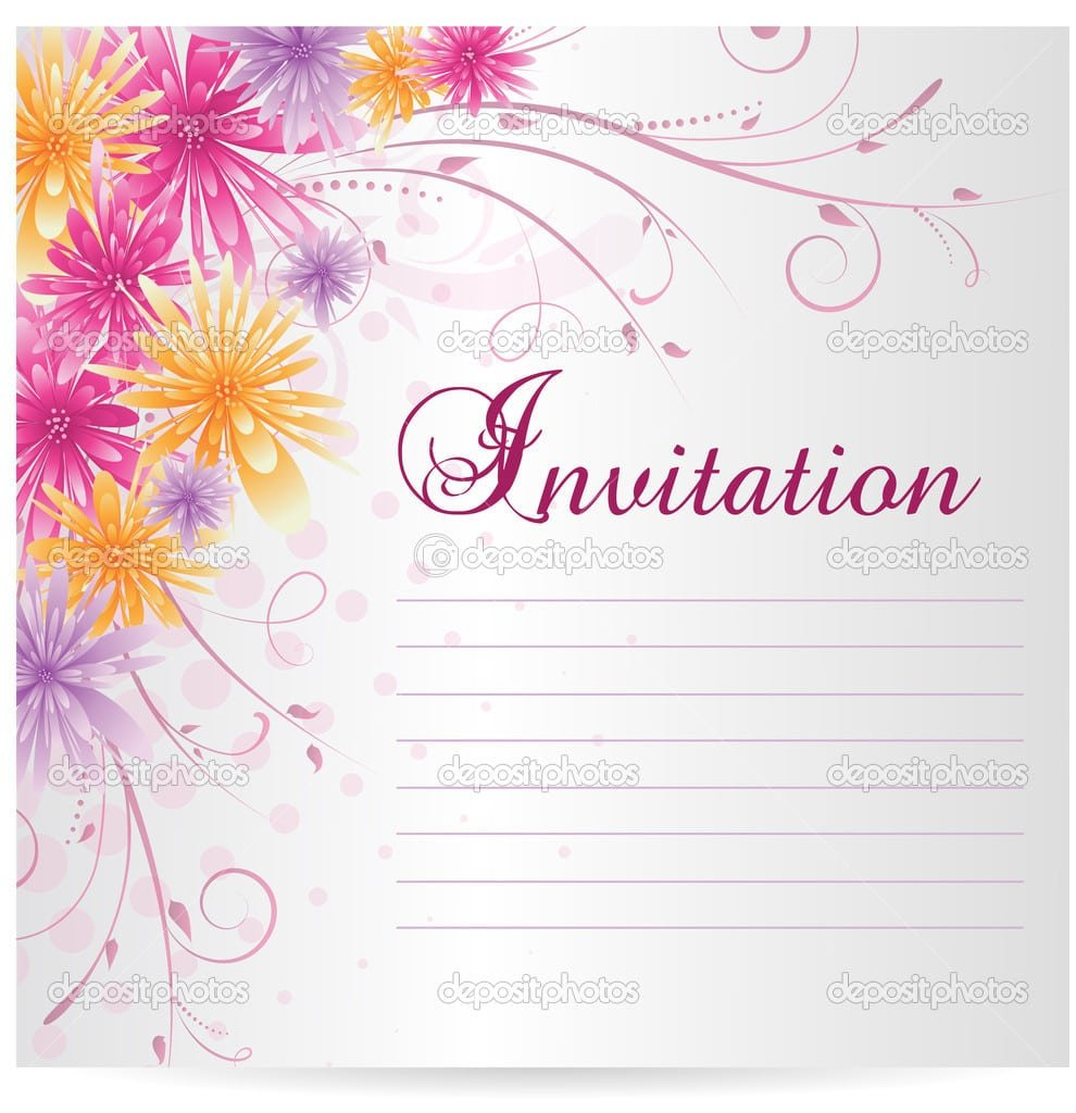 Sample Blank Invitation