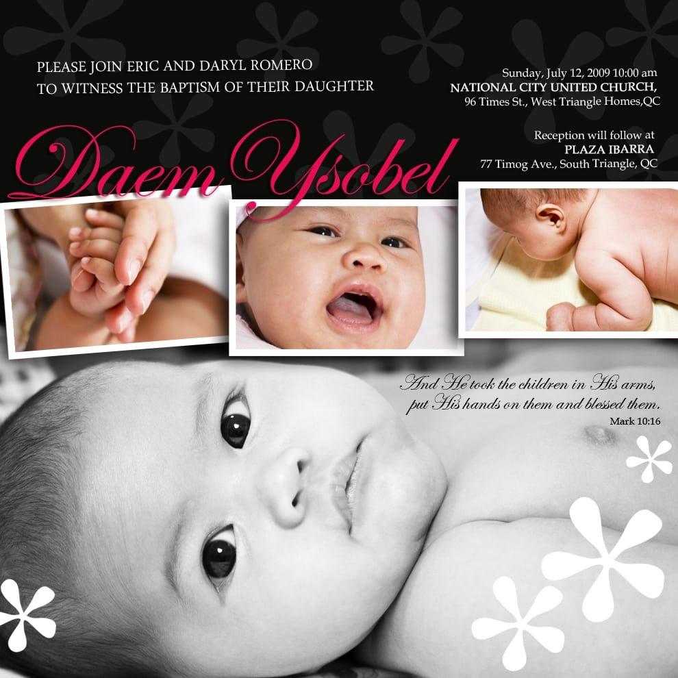 Sample Christening Invitation For Baby Boy
