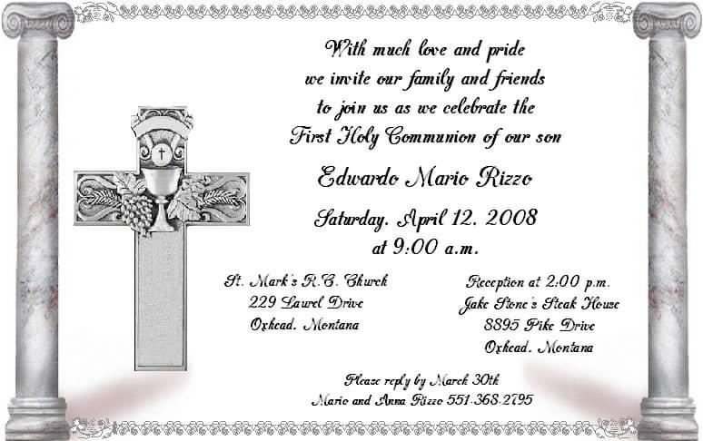 Sample Christening Invitation For Girls 5