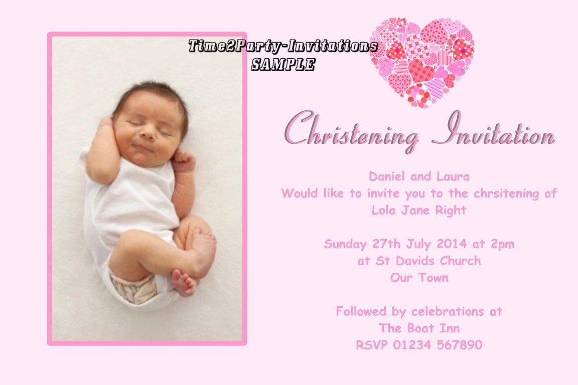 Sample Christening Invitations For Girls 2