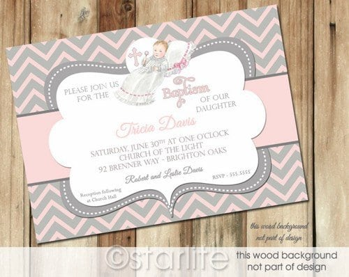 Sample Christening Invitations For Girls 3
