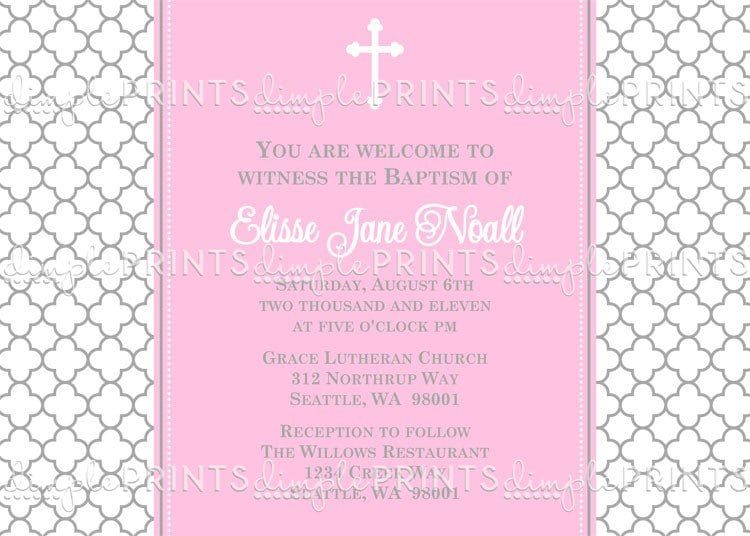 Sample Christening Invitations For Girls 5