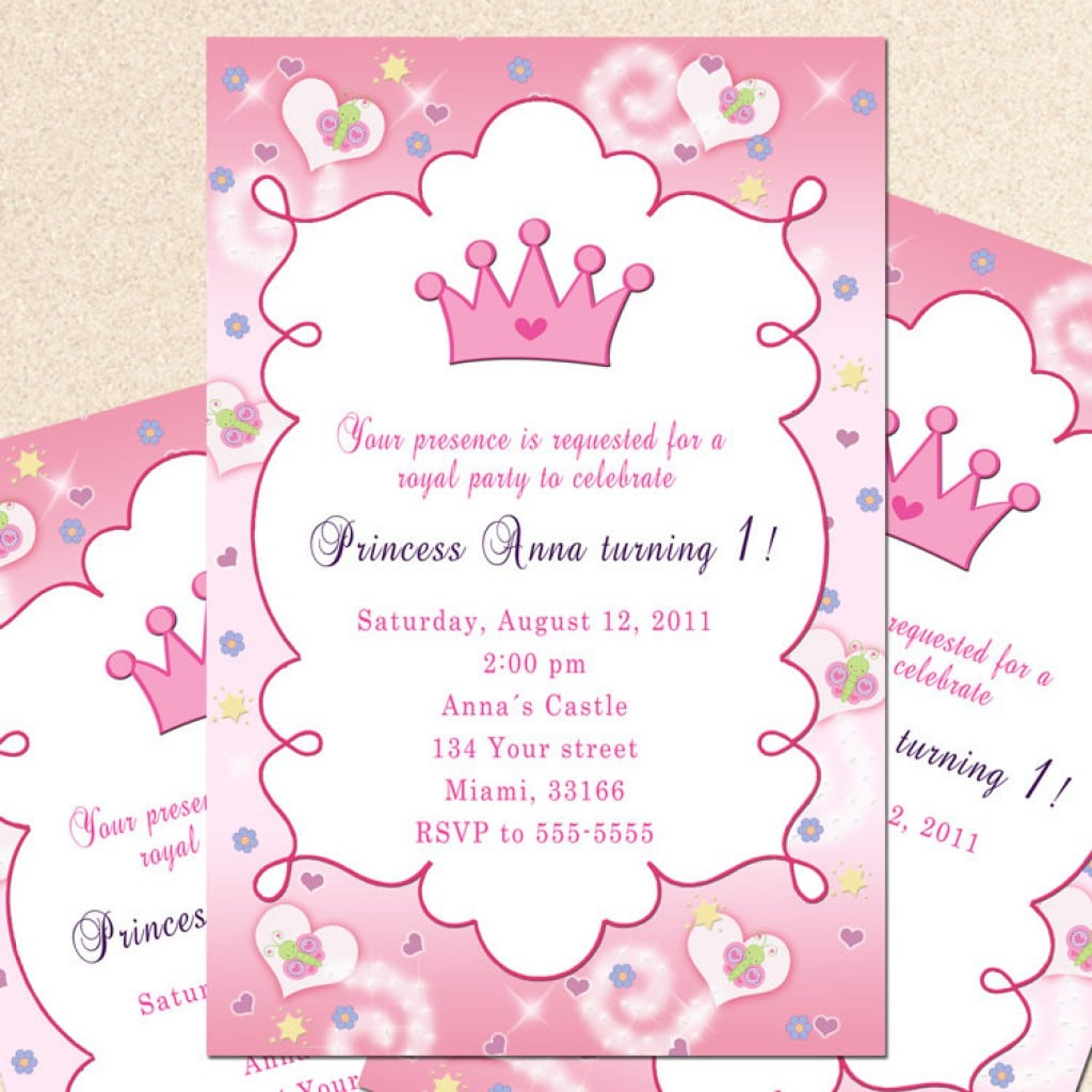 Sample Disney Princess Invitation 3