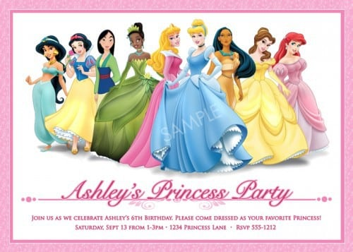 Sample Disney Princess Invitation 5
