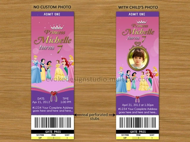 Sample Disney Princess Invitation