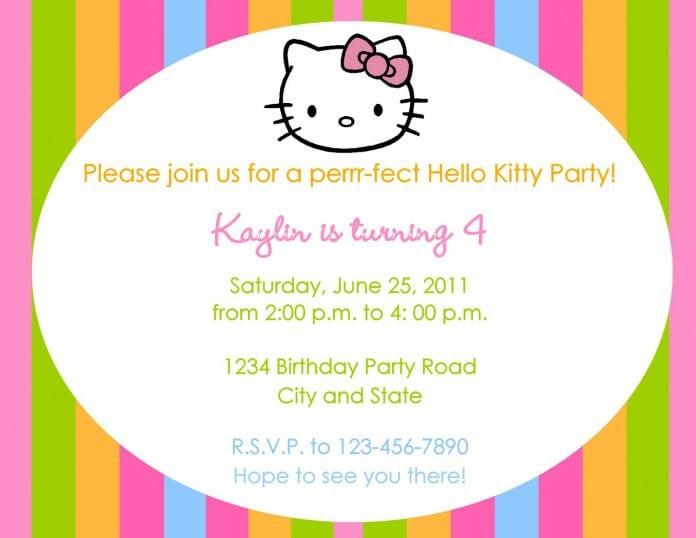 Samplehellokittypartyinvitations 4eg sample hello kitty party invitations 4 stopboris Images