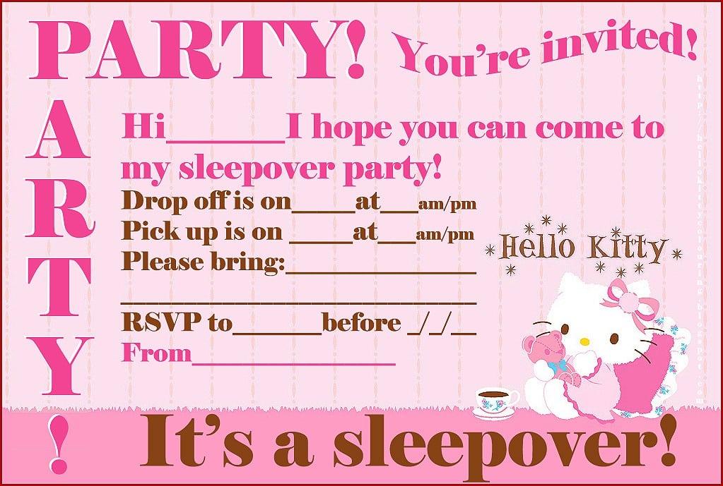 Sample Hello Kitty Party Invitations