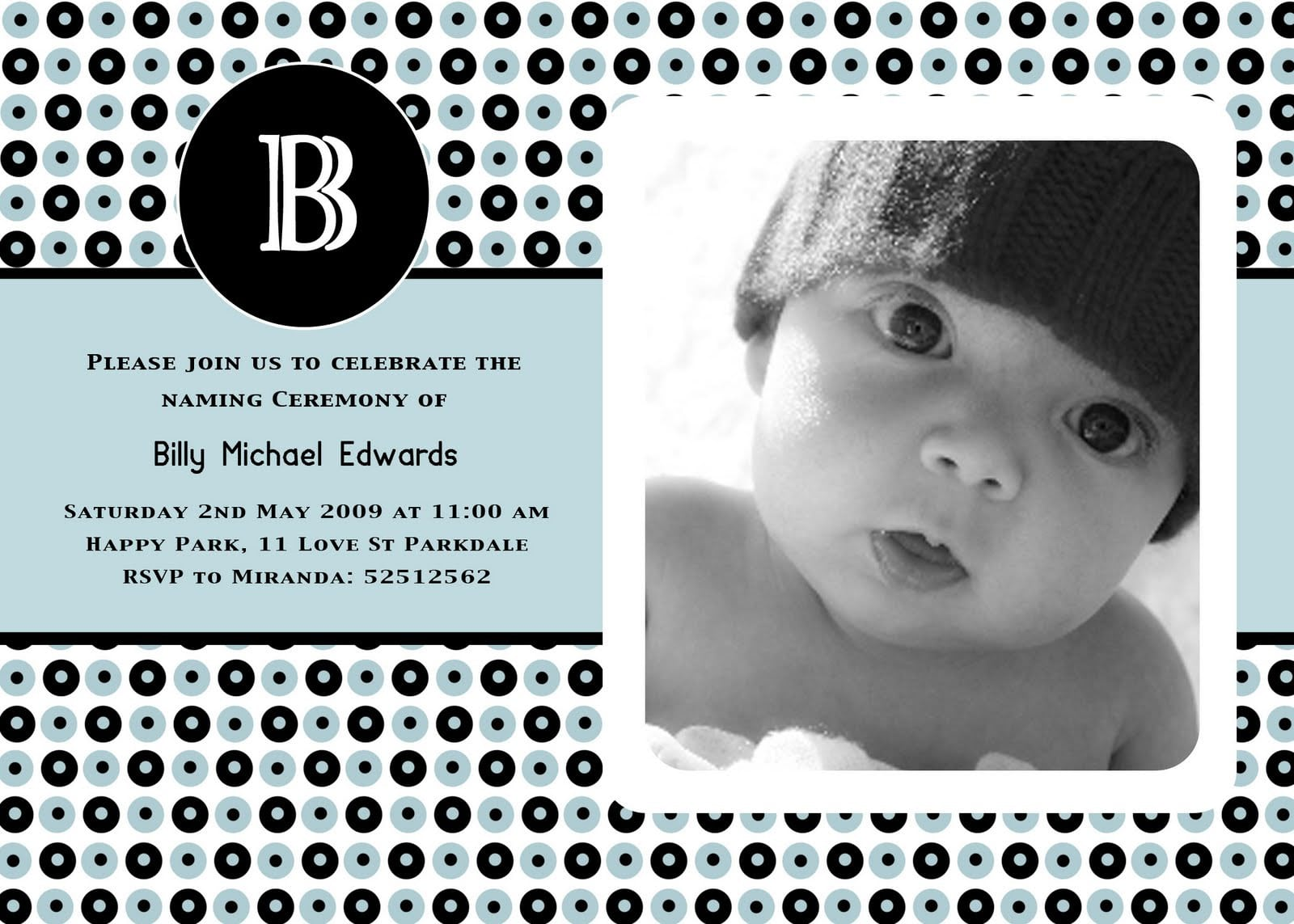 Sample Invitation For Christening 3
