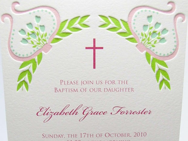 Sample Invitation For Christening 5