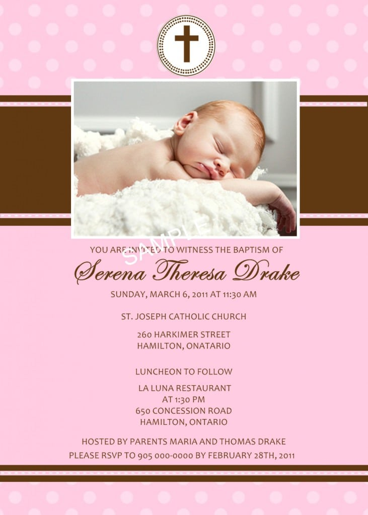 Sample Invitation For Christening