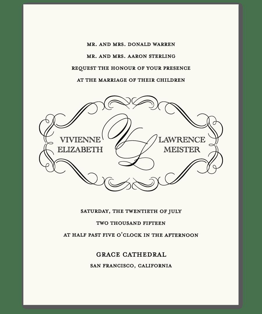 Sample Invitation For Wedding