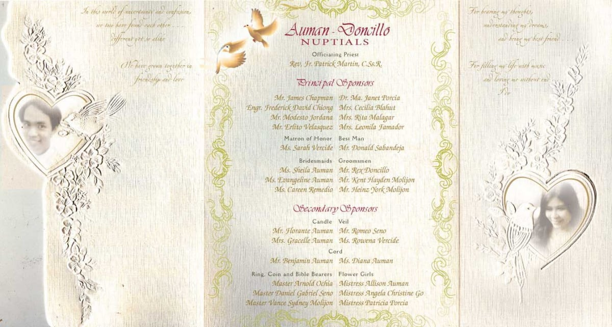 Sample Invitation For Wedding