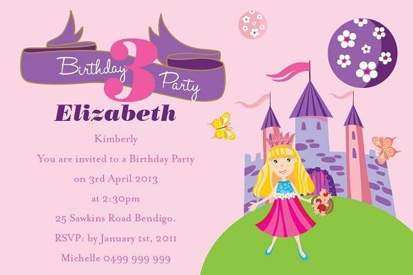 Sample Of Birthday Invitation For Kids 2015