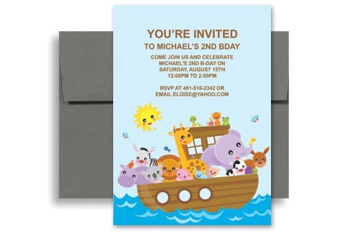 Sample Of Birthday Invitation For Kids 2018