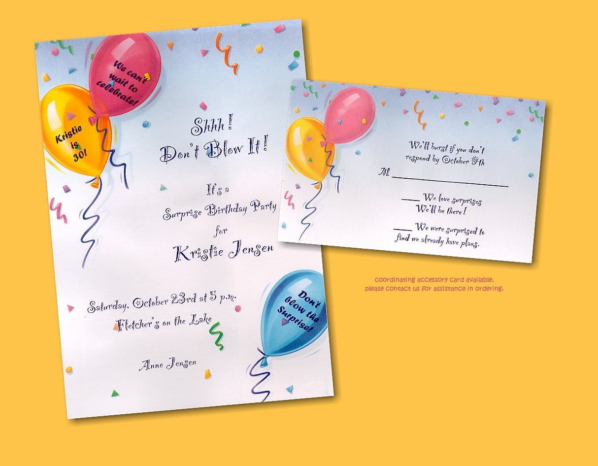 Sample Of Birthday Invitation For Kids