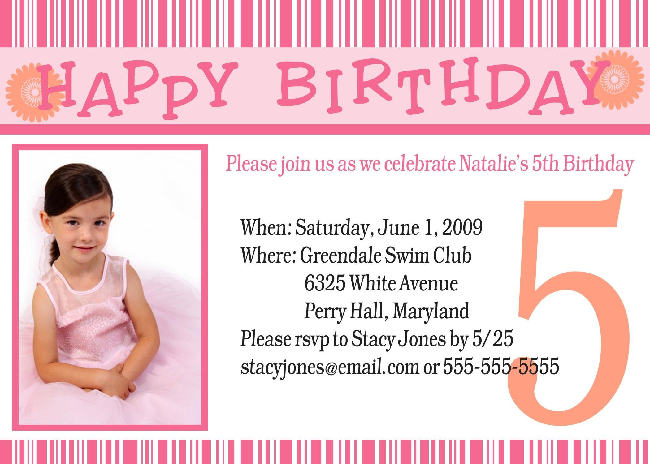 Examples Of Birthday Invitations - Sample birthday invitation hello kitty