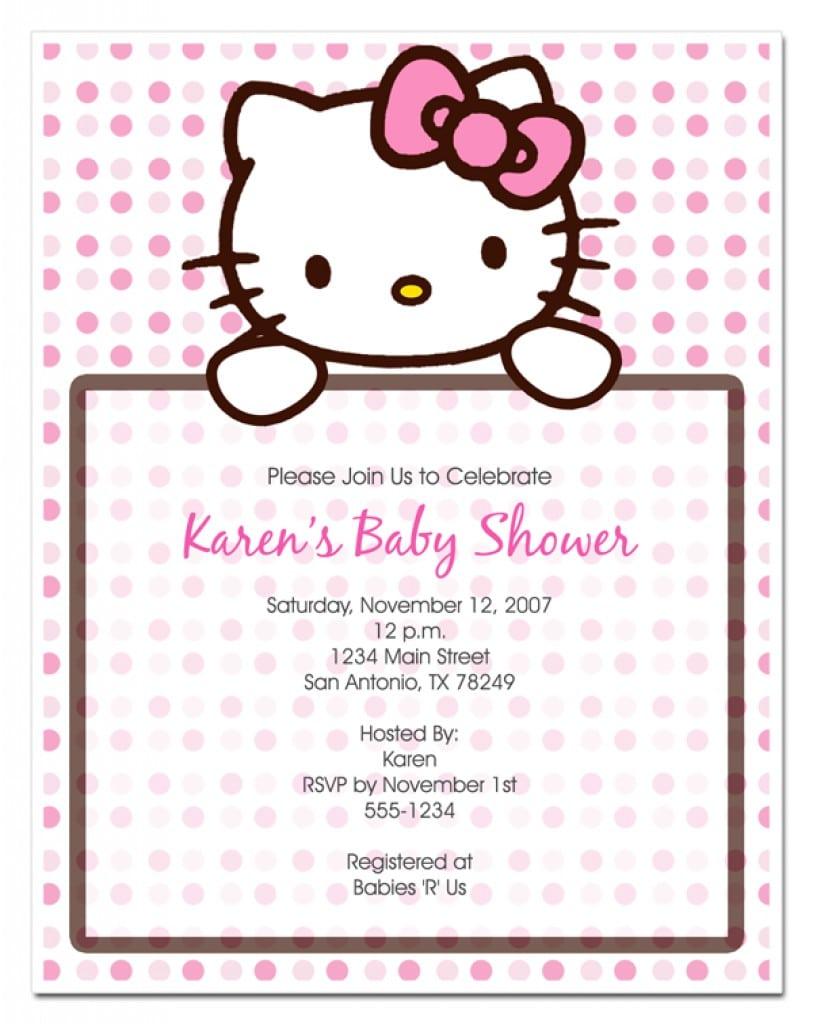 Sample Of Christening Invitation Hello Kitty 4