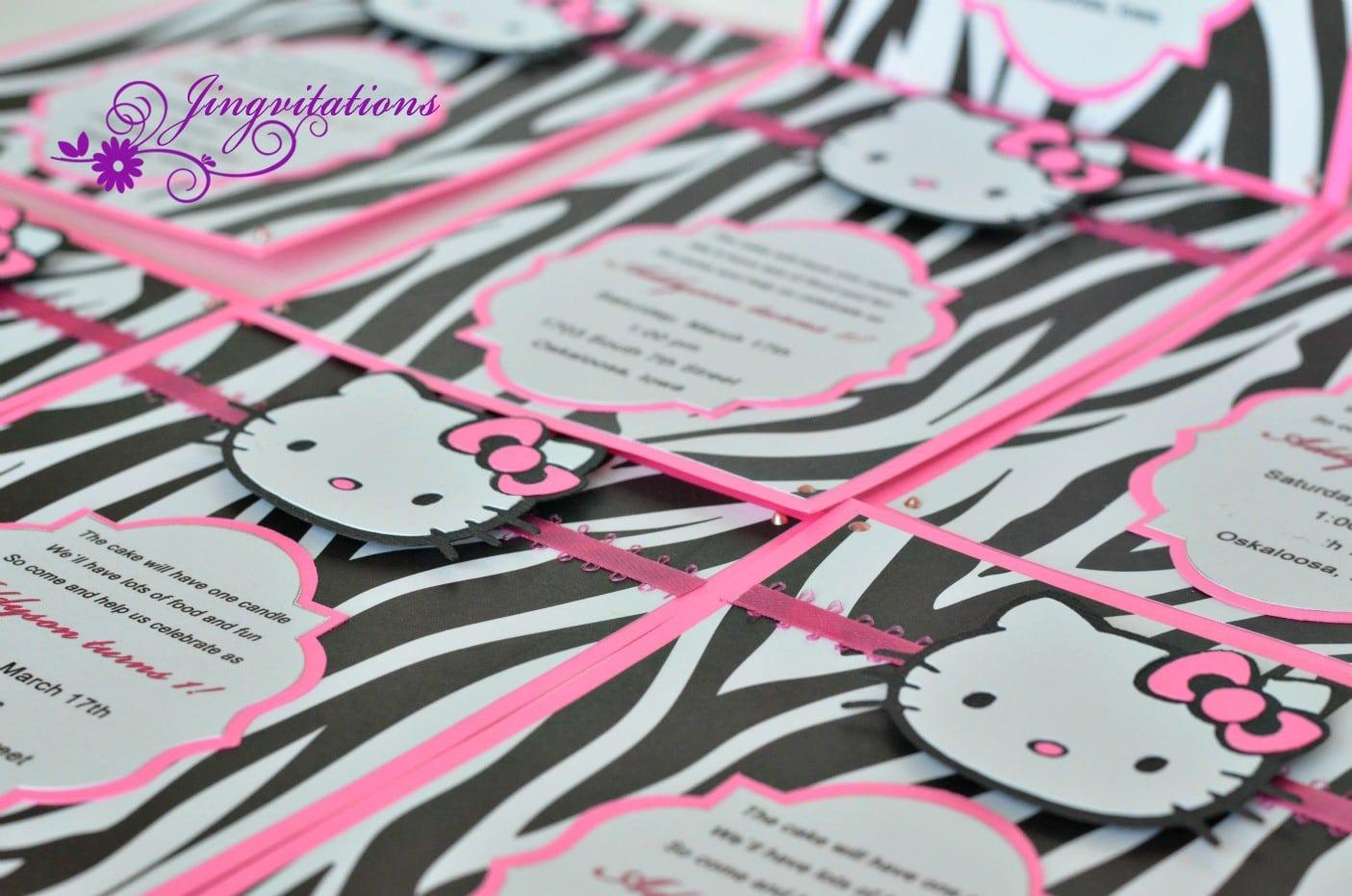 Sample Of Christening Invitation Hello Kitty 5