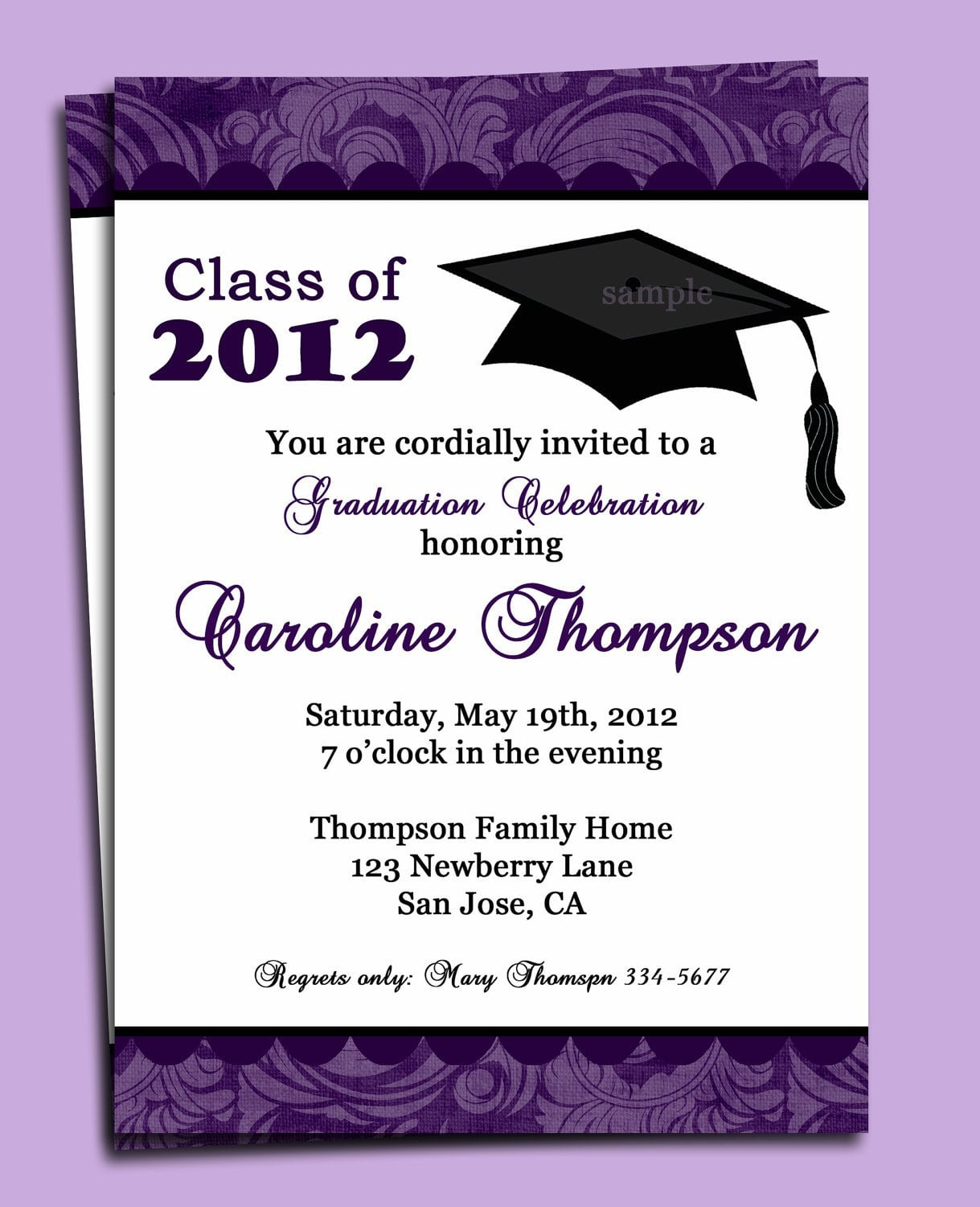 Sample Of Invitation For Graduation Party