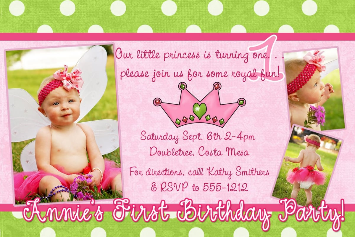 Sample Of Princess Birthday Invitation  Birthday Invitations Sample