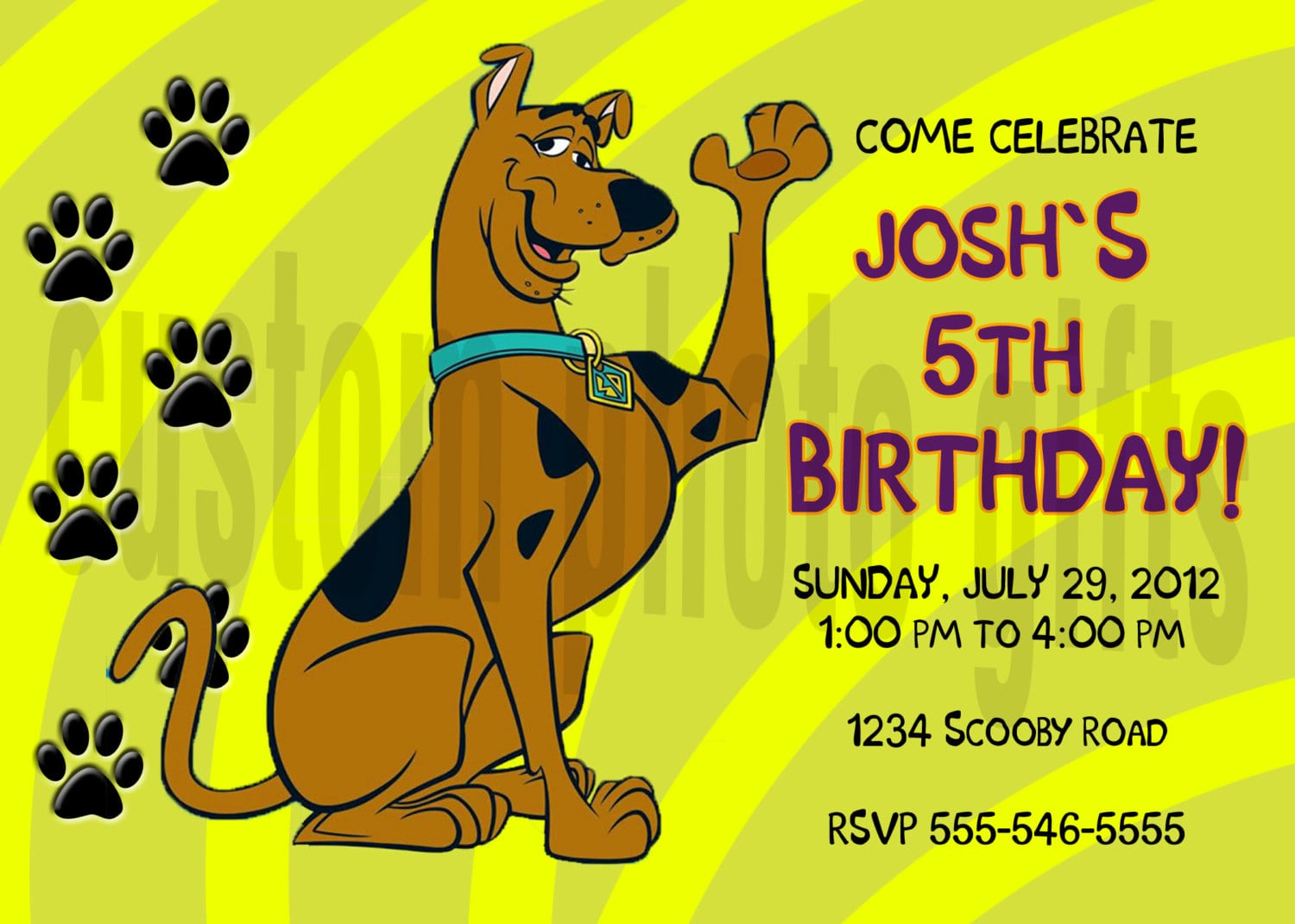 Scooby Doo Invitations Australia