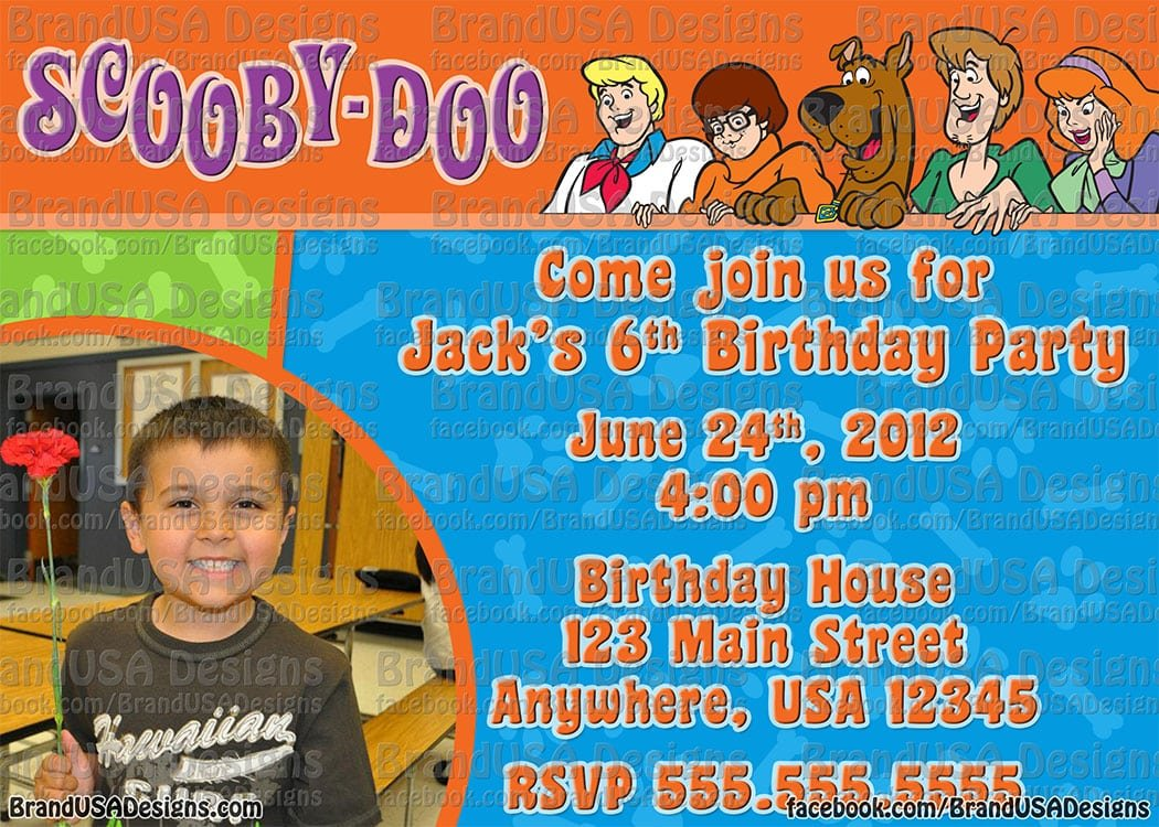Scooby Doo Invitations Personalized