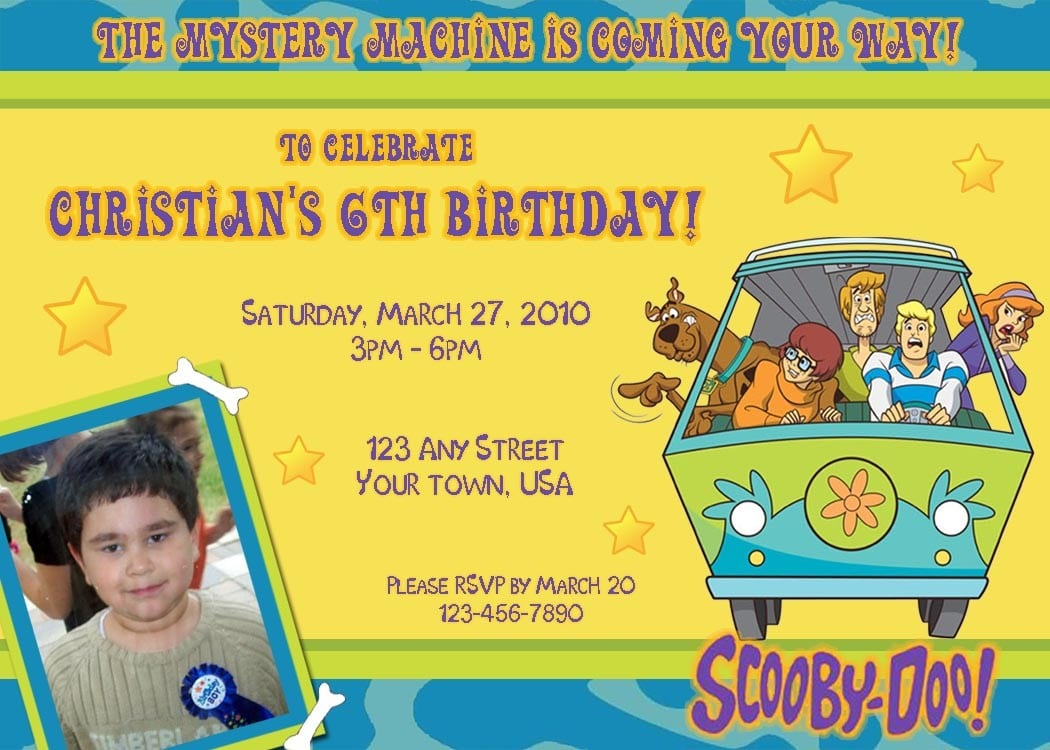Scooby Doo Invitations Walmart