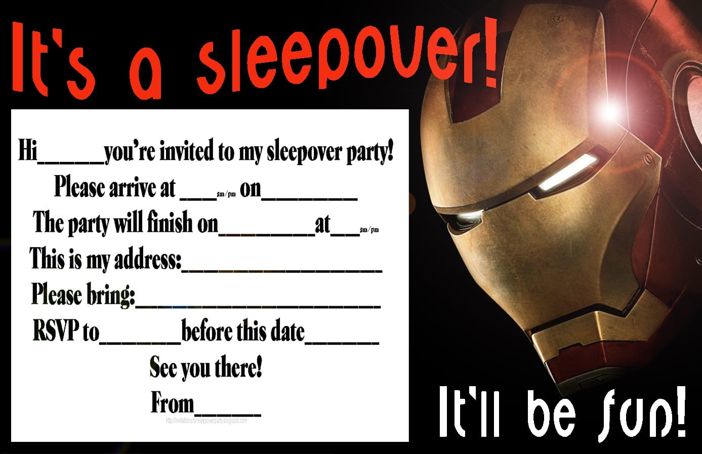 Sleepover Invitations For Teens 2