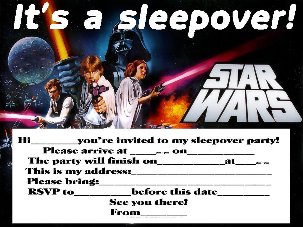 Sleepover Invitations For Teens 3
