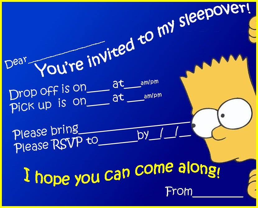 Sleepover Invitations For Teens 4