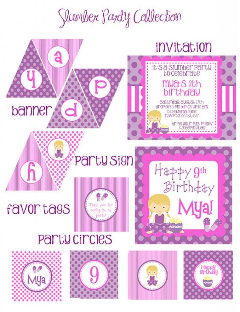 Sleepover Invitations For Teens 5