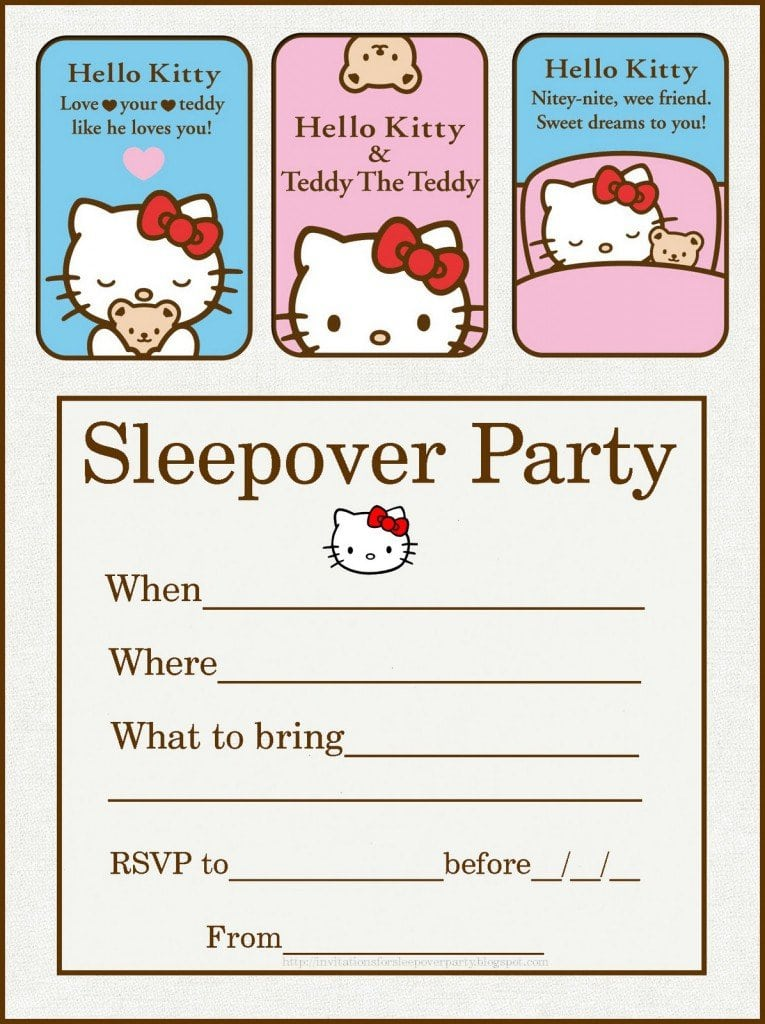 Sleepover Spa Party Invitations Templates Free