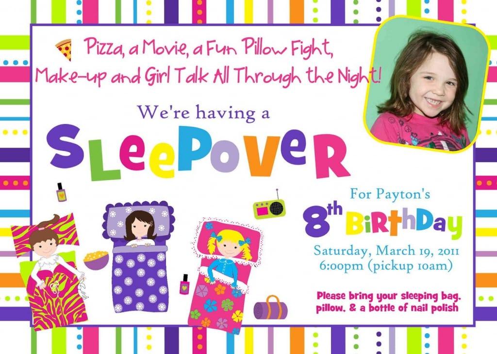 Slumber Birthday Party Invitations Free Printable