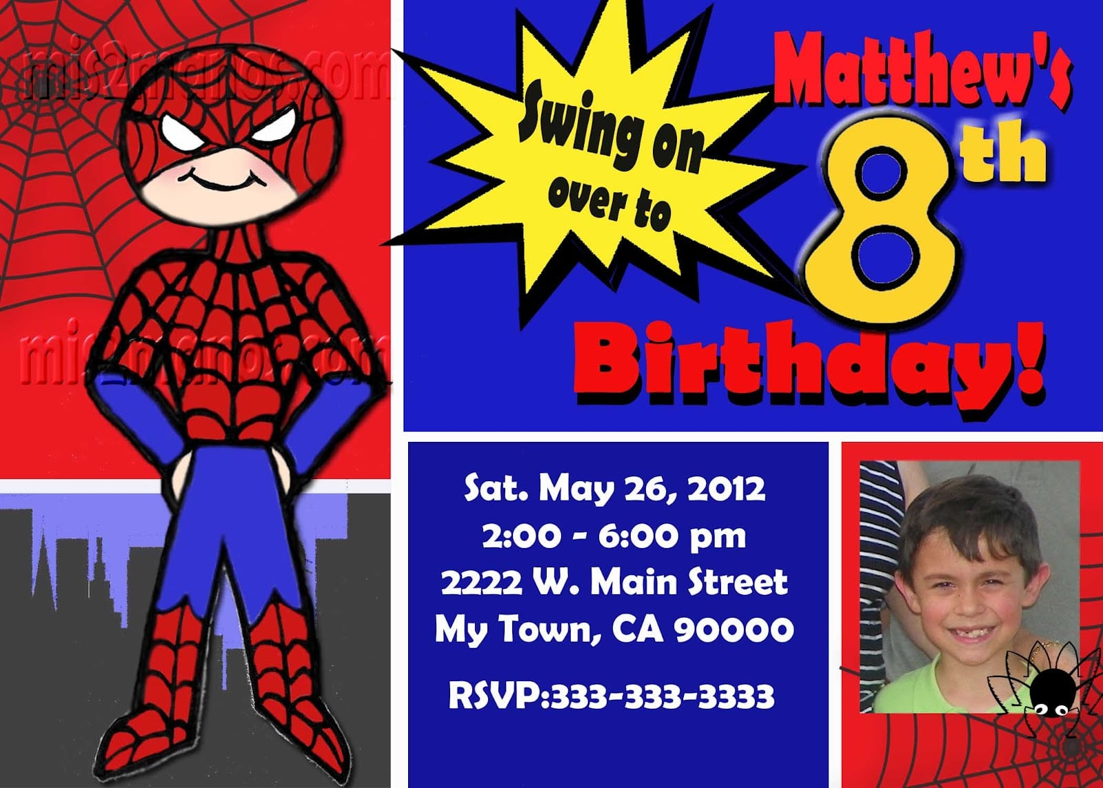 Spiderman Birthday Invitation Templates Free