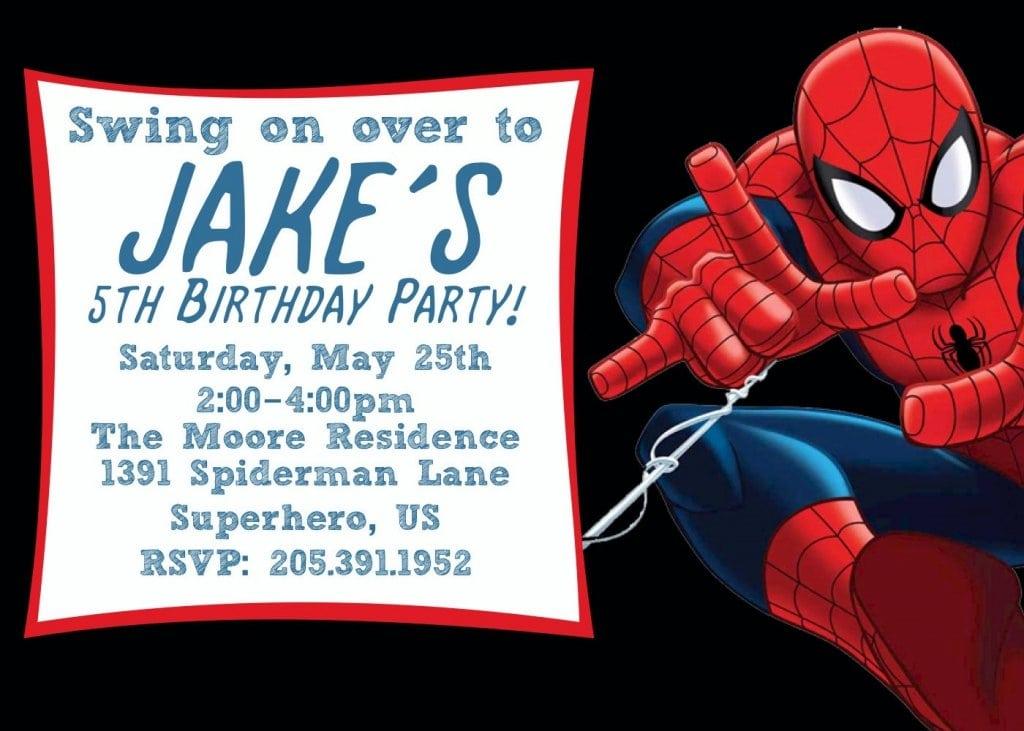 Spiderman Invites Free