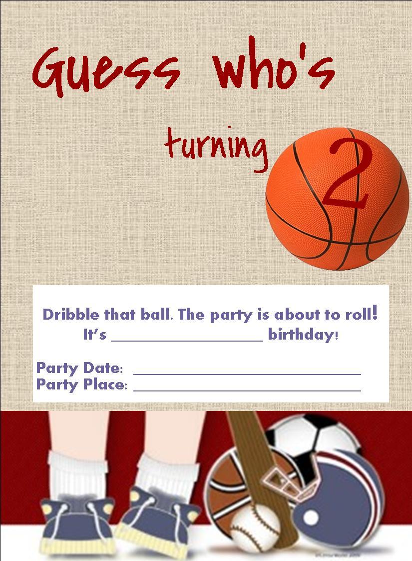 Sports Birthday Invitation Free Template