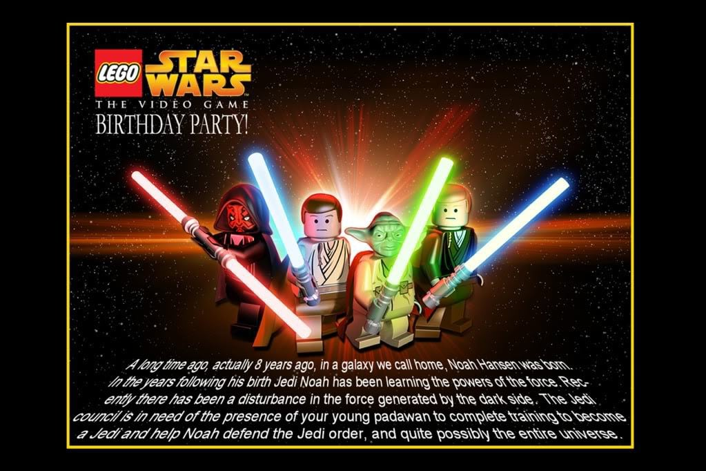 Star Wars Invitation Birthday 3