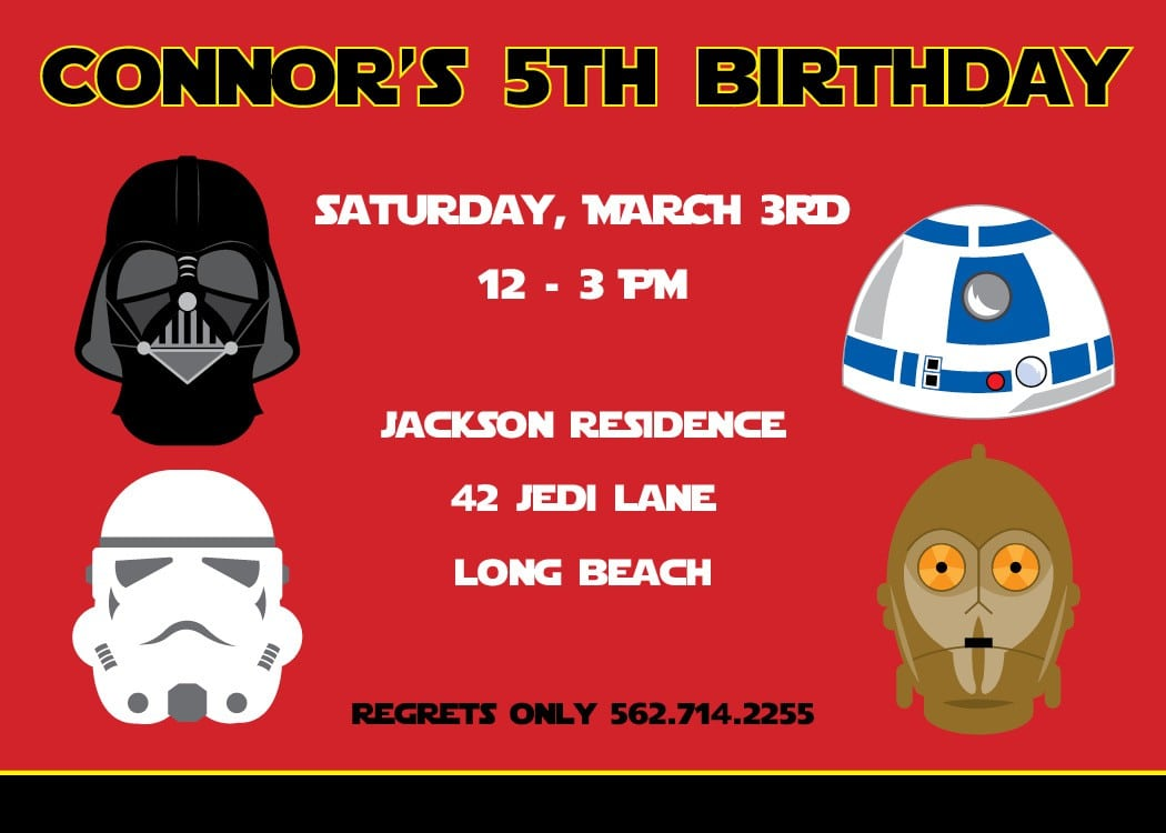 Star Wars Invitation Birthday 4