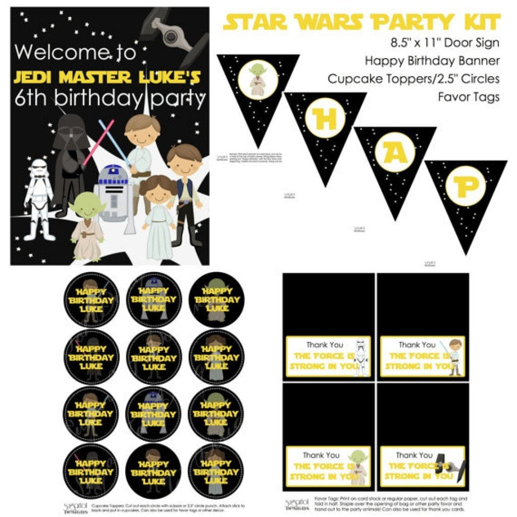 Star Wars Invitation Birthday 5
