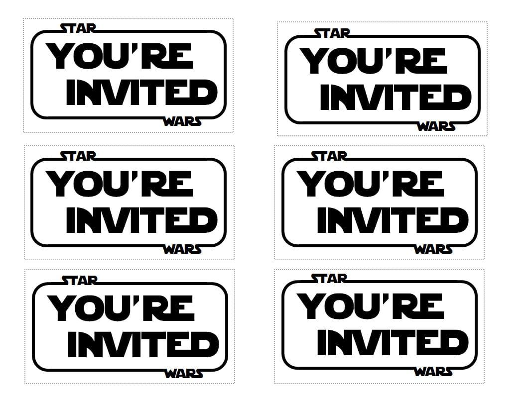 Star wars invitation templates pronofoot35fo Choice Image
