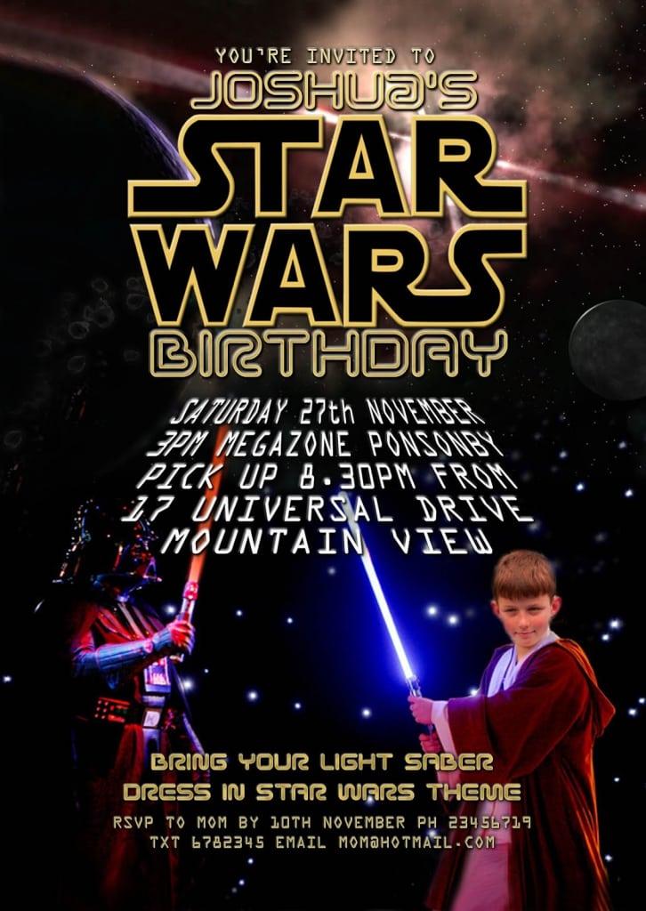 Star Wars Invitations Free Download