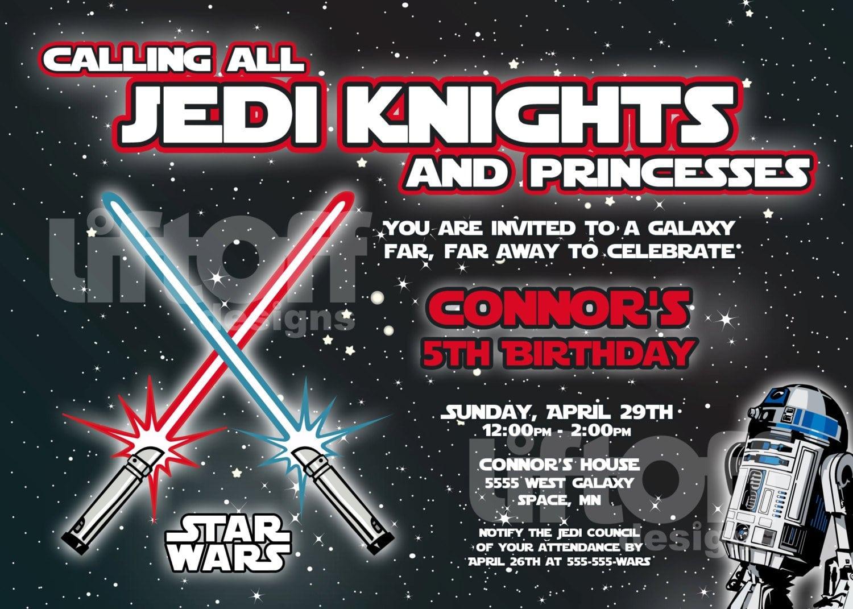 Star Wars Invitations Free Printable