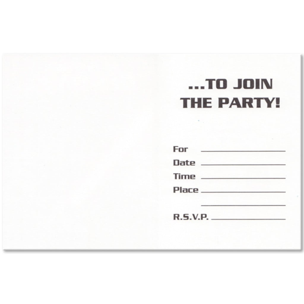 Star Wars Party Invitation Template Free 2