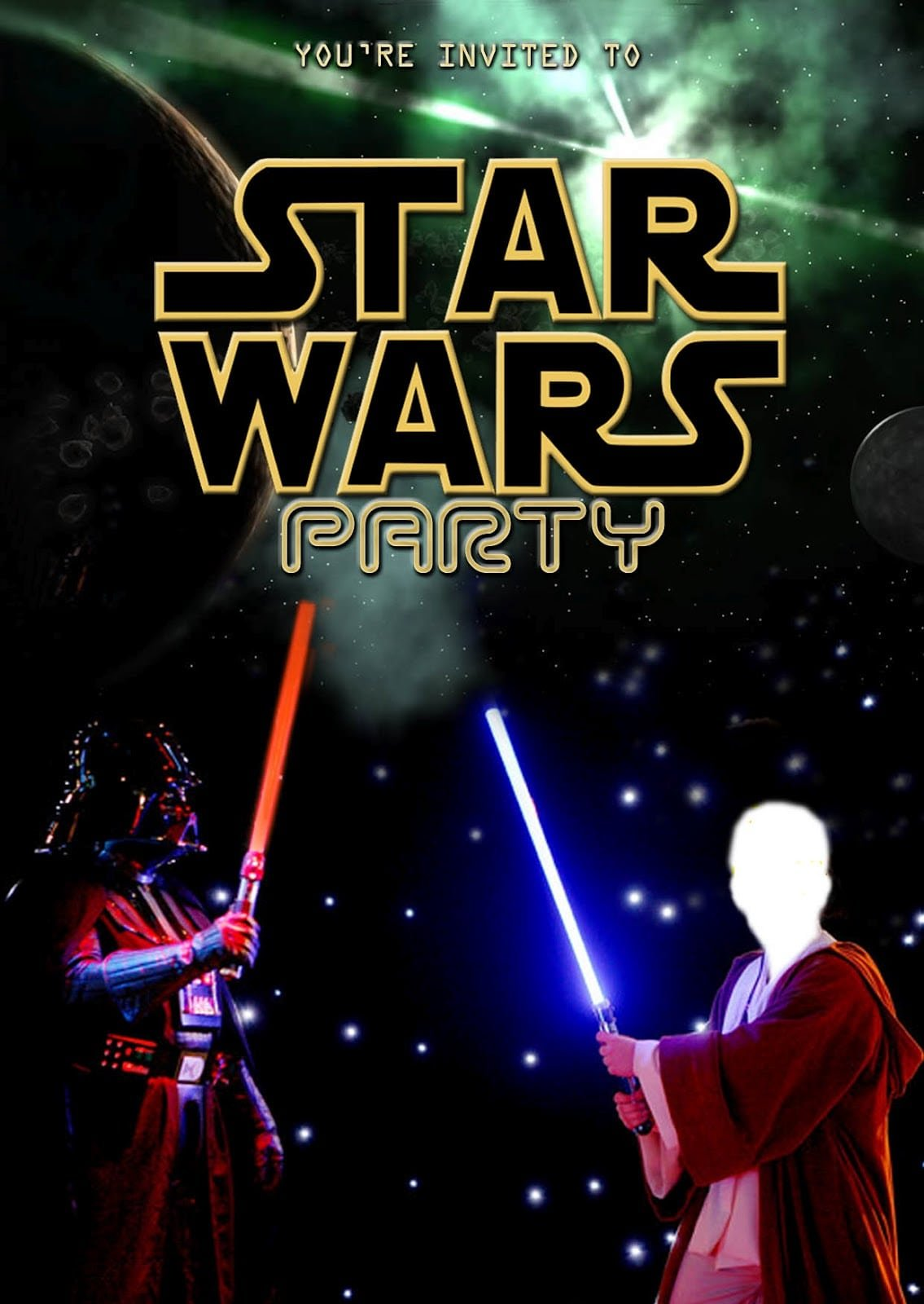 Star Wars Party Invitations Free Printable