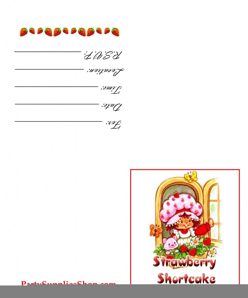 Strawberry Shortcake Invitations Free