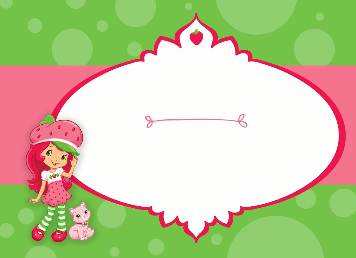 strawberry shortcake printable invitations free download