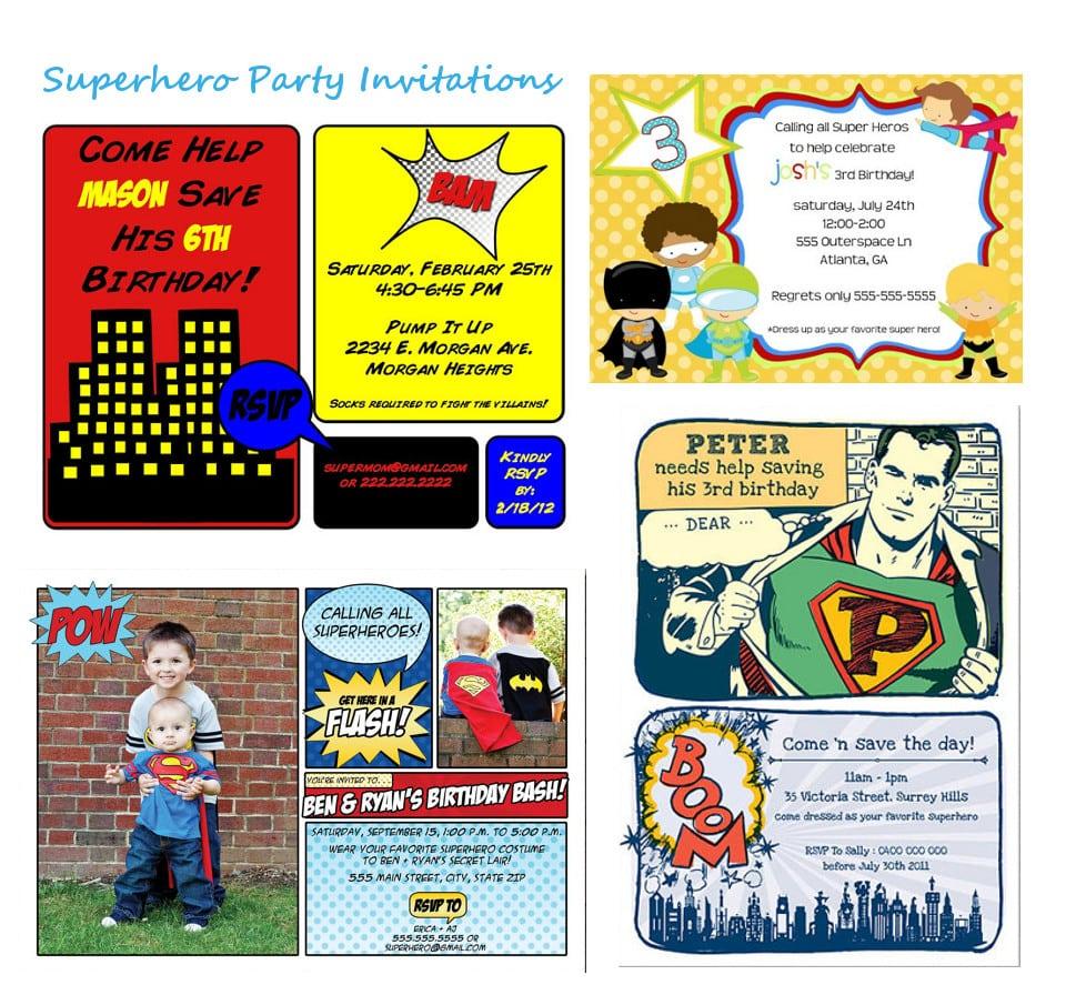 Superhero Party Invitations Free Printable