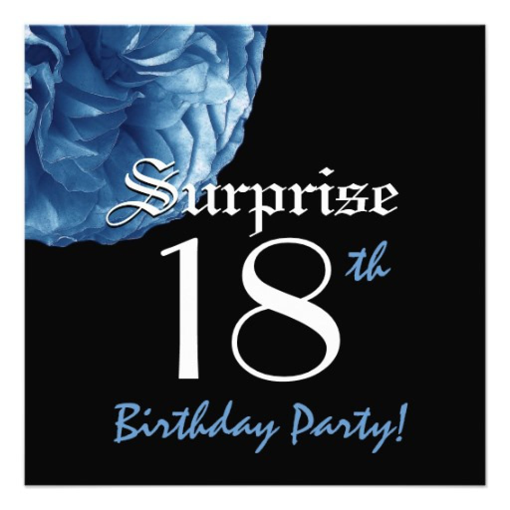 Surprise 18 Party Invitations 5