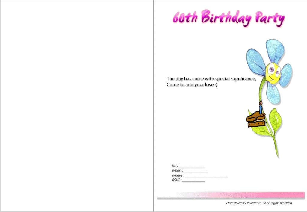 Surprise 60th Birthday Invitation Templates Free 2